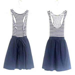 VELVET Nautical Stripe Scoop Neck Racerback Mini